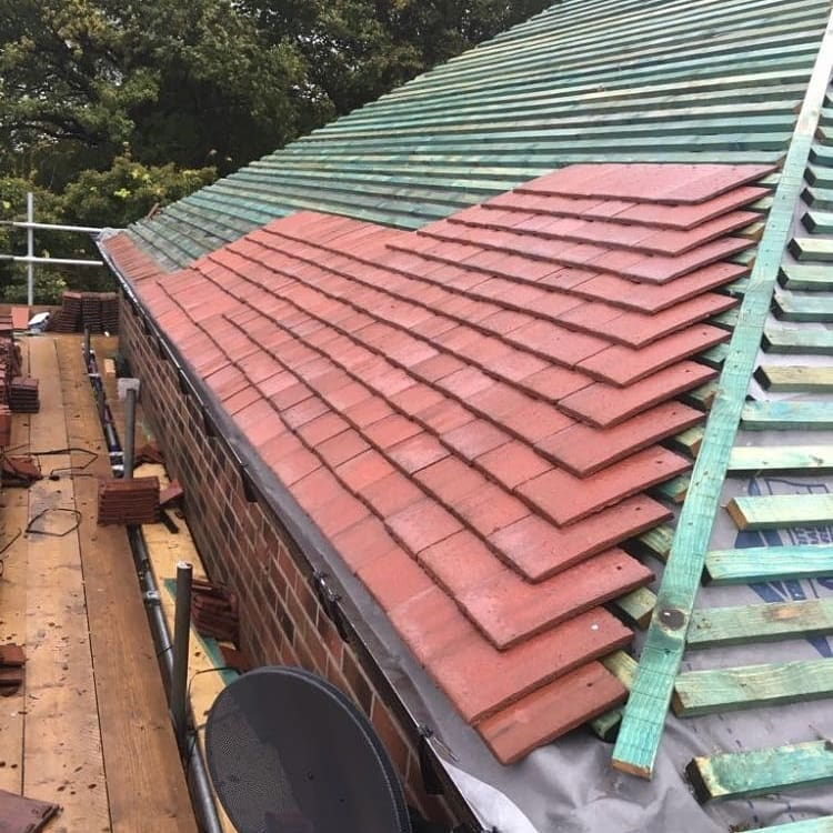 Pitched Roof Project In Shaw Eb Roofing